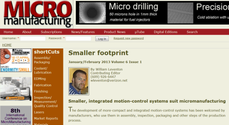 MicroManufacturing Smaller Footprint Article