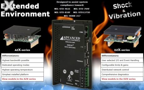 AMC Extended Environment Servo Amplifiers